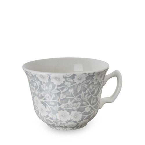 Dove Grey Calico Teacup and Saucer
