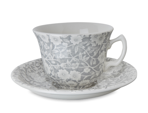 Dove Grey Teacup and Saucer