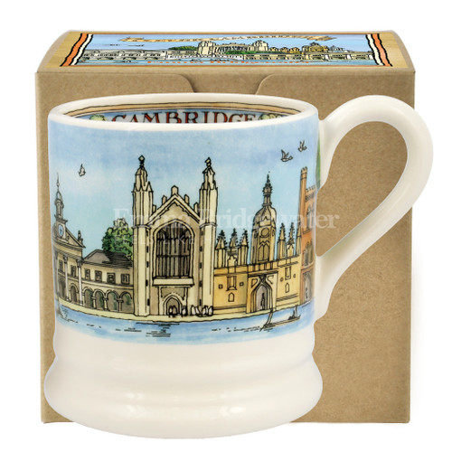 Emma Bridgewater Cambridge pottery half pint mug boxed.