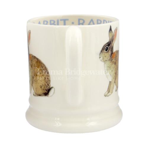 Emma Bridgewater handmade pottery Rabbit half pint mug.