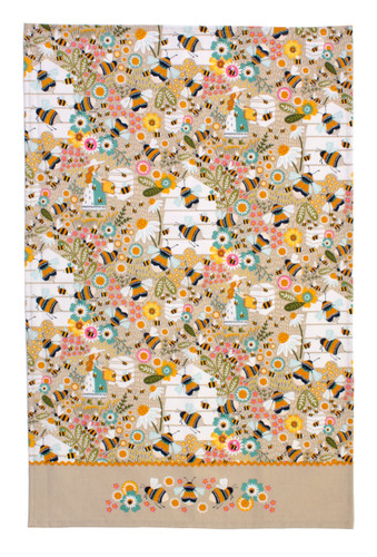 Bee Keeper 100% Cotton Tea Towel from Ulster Weavers.