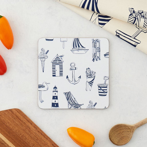 Melamine Nautical Boat Pot Stand from Victoria Eggs.