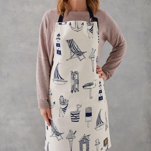 100% cotton Nautical apron from Victoria Eggs.