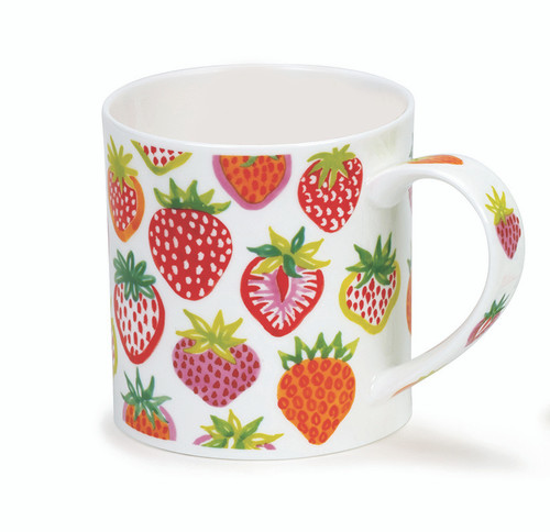 Dunoon Orkney Strawberry Sunrise bone china mug.