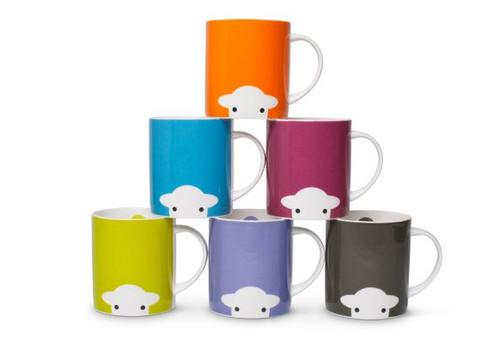 herdy Peep mug in 6 fun colors. Bone china made in England.