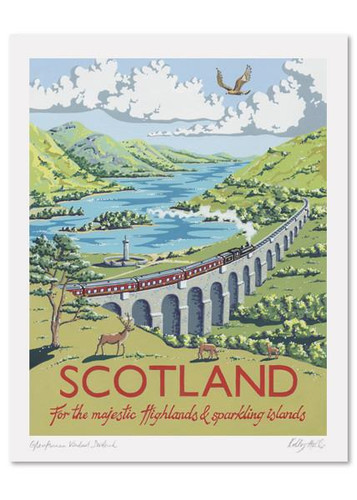 Kelly Hall Sccotland Print. Printed in England.