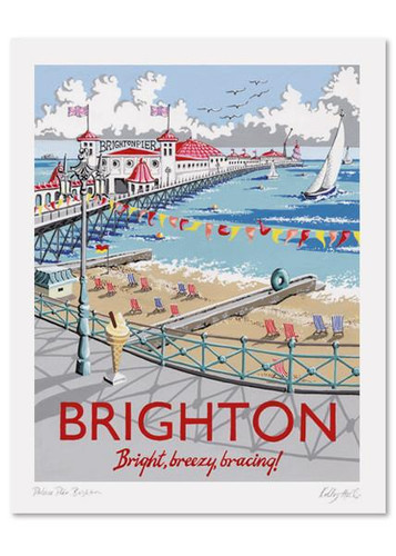 Kelly Hall Brighton Pier Print. Printed in England.
