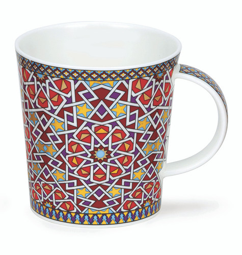 Dunoon Lomond Zahra Star bone china mug.