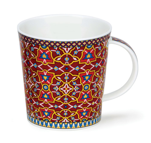 Dunoon Lomond Zahra Flower bone china mug.