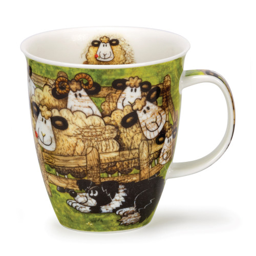 Dunoon Nevis Sheepies Pen bone china mug.