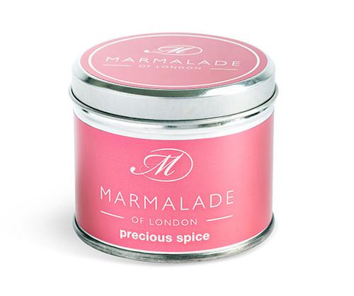 Precious Spice medium tin candle from Marmalade of London.