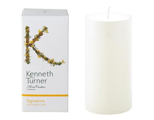 Kenneth Turner Signature fragranced pillar candle.