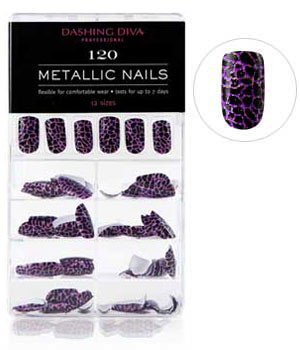 Dashing Diva - Metallic Crackle Nails - Call of the Wild