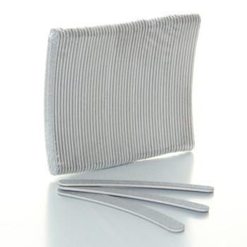 Design Nail - Cushion Files Zebra 100/180 Banana 50pcs. #14710