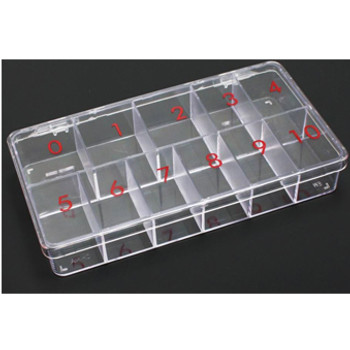 Hard Plastic11-Slot Large Tip Box 100/Box
