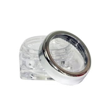 Clear Acrylic Jar 12ml /Silver Cap