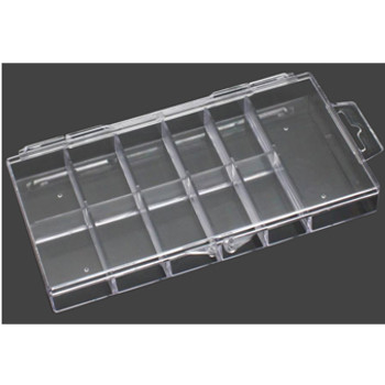 11-Slot Clear Hard Plastic Mini Tip Box