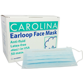 CAROLINA- Earloop Face Mask Blue 6 Box/Case