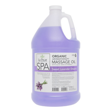 La Palm - Organic Aromatherapy Massage Oil-Sweet Lavender Dream Gal.