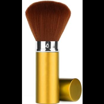 Retractable Premium Facial/Dust Brush /Gold /Medium