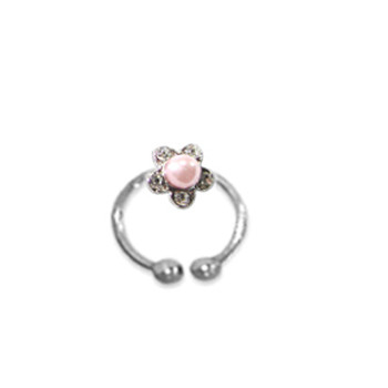 Adjustable Toe Ring Pearl Pink