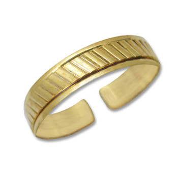Gold Plated Toe Ring [9-303]