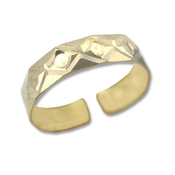 Gold Plated Toe Ring [9-342]