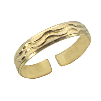Gold Plated Toe Ring [9-340]