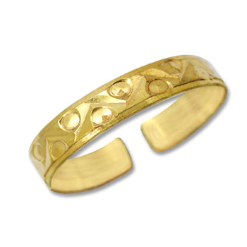 Gold Plated Toe Ring [9-310]