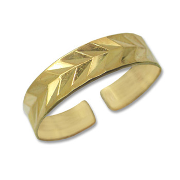 Gold Plated Toe Ring [9-318]