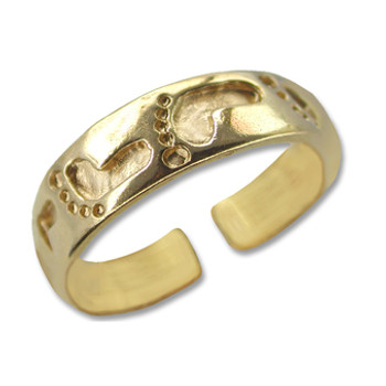 Gold Plated Toe Ring [9-335]