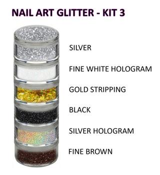 INSTANT-Nail Art Glitter Kit 3