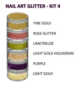 INSTANT-Nail Art Glitter Kit 4