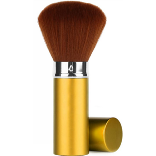 Retractable Premium Facial/Dust Brush /Gold /Medium