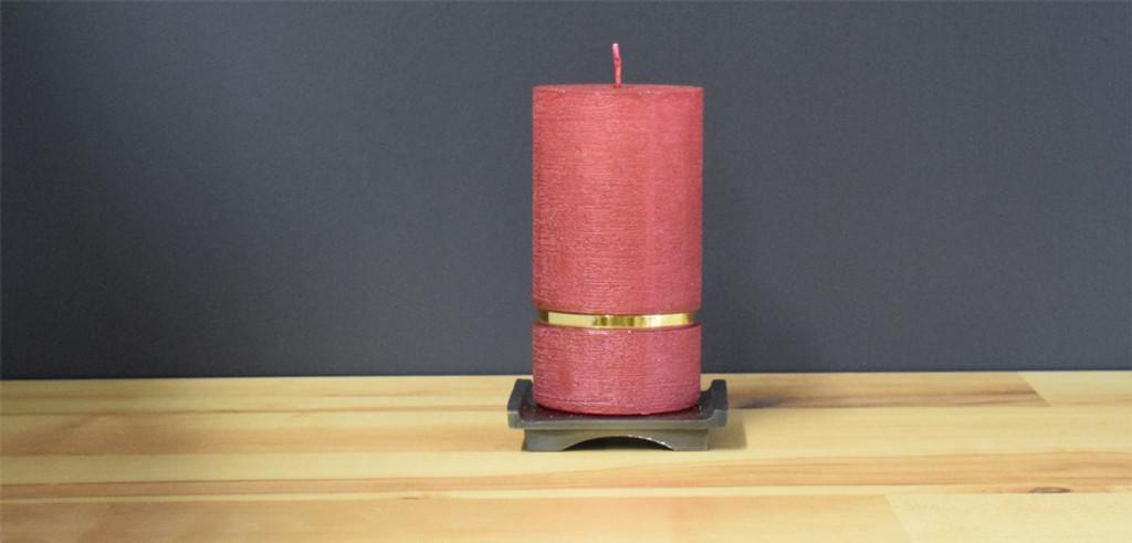Bordeaux Dripless Pillar Candle