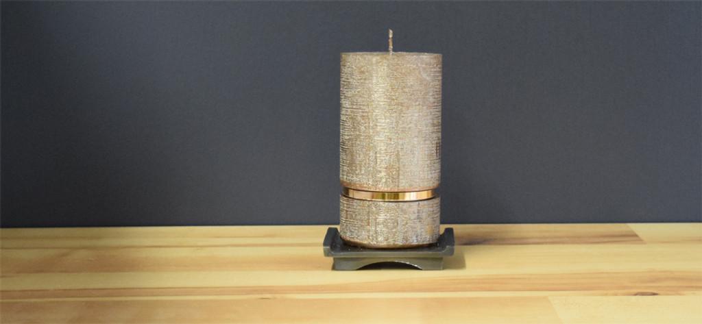 Bronze Dripless Pillar Candle