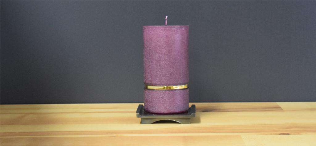 Plum Dripless Pillar Candle