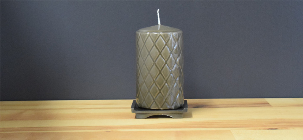 Dripless Charcoal Pillar Candles
