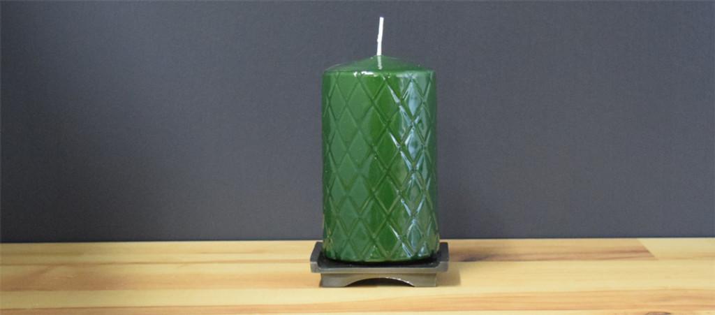 Dripless Dark Green Pillar Candles