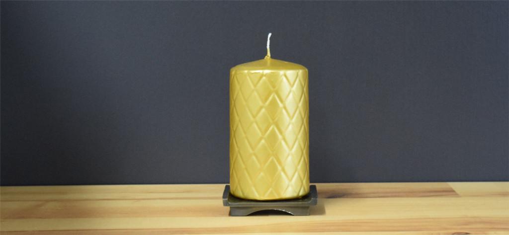 Dripless Gold Pillar Candles