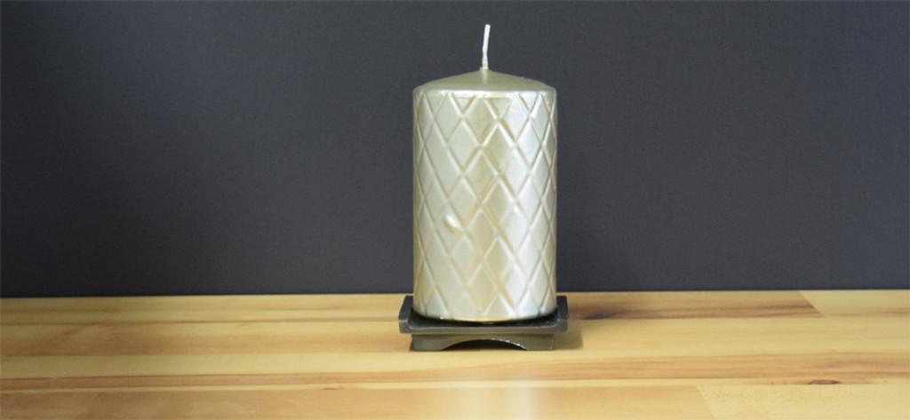 Dripless silver Pillar Candles