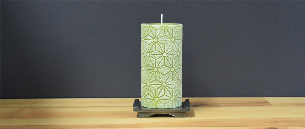 Unscented Green Pillar Candle