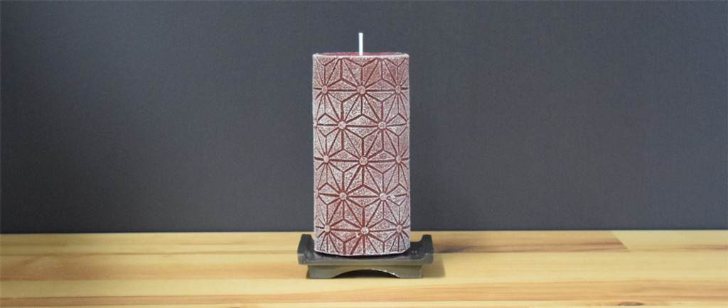 Dripless Bordeaux Pillar Candle