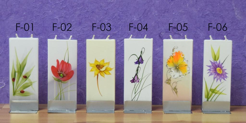 FLATYZ Decorative Flat Candles - Flower Collection 1