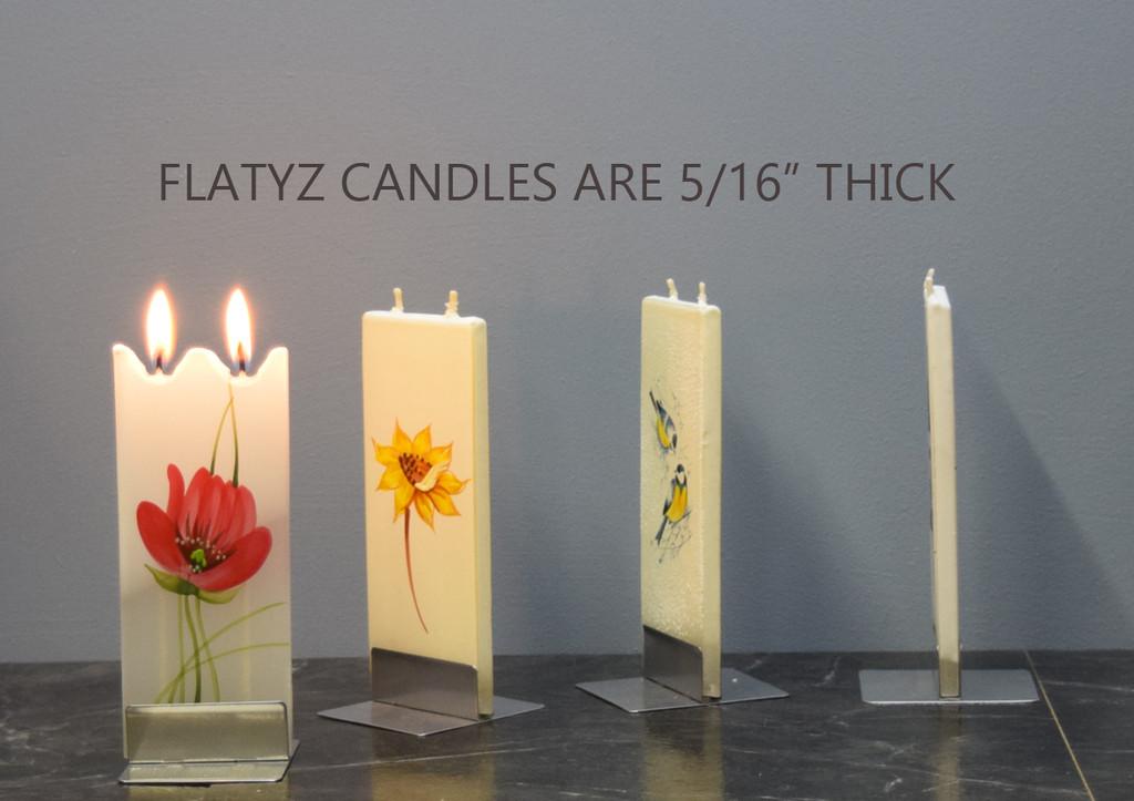 FLATYZ Decorative Flat Candles - Flower Collection II