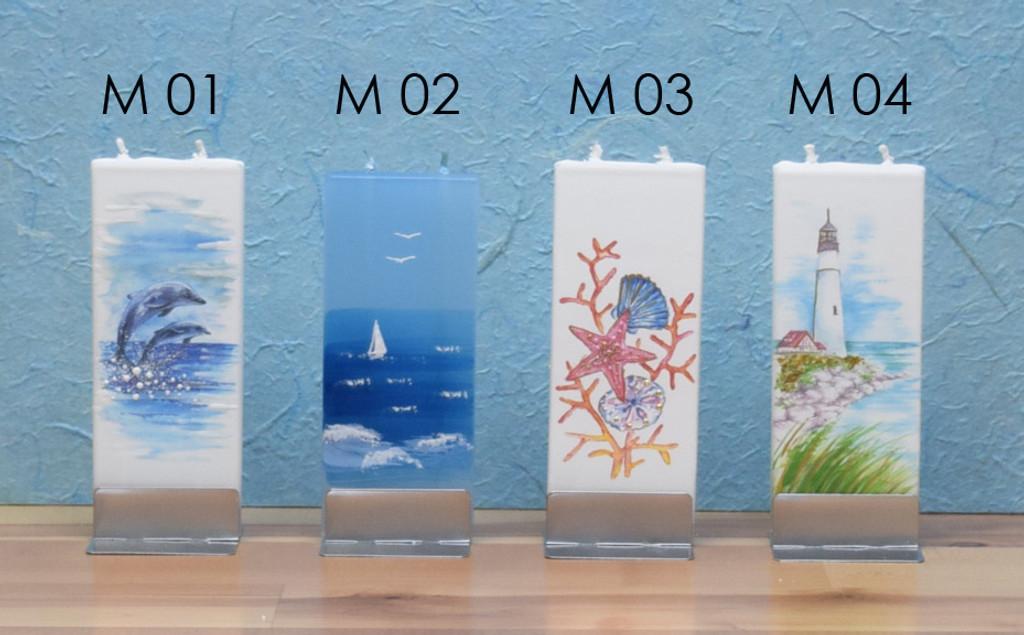 FLATYZ Decorative Flat Candles - Sea Themes