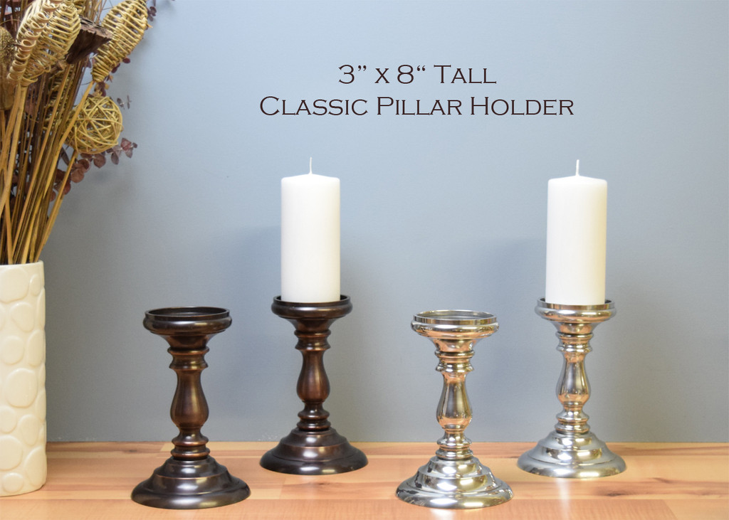 """Classic Pillar Bases / 3"""" x 8"""" tall (Sold by the pair / Free Shipping & 2 free pillars included)"""