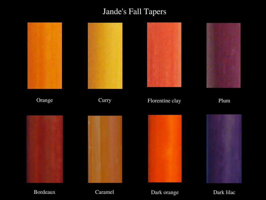 Fall colors for your candles 2017