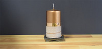 Unscented Bronze pillar candle