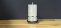 Silver Dripless Pillar Candle